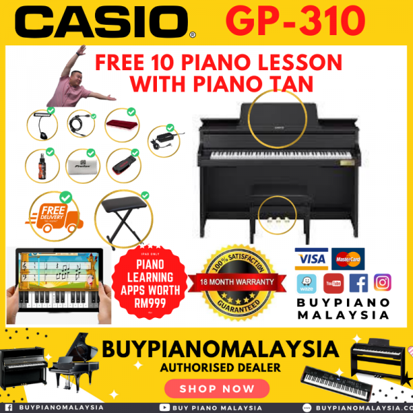 """Casio GP-310 Hybrid Grand Piano with 88 Keys, Touch Sensitivity """"Crazy Promotion"""""""