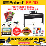 Roland FP10 (88-key Digital Piano Package)