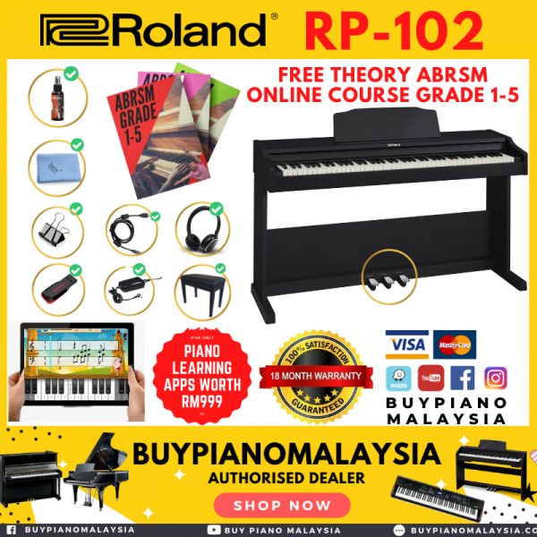 Roland RP102 (88-key Digital Piano Package)