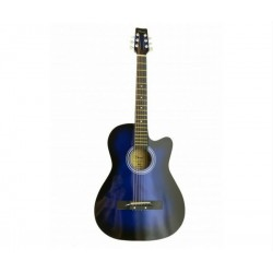 Chard 38inch Acoustic Guitar-Blue