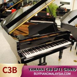 Yamaha C3B Grand Piano (2 Pedals)